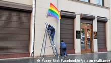 Russland I Pussy Riot I Rainbow flag