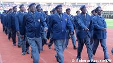 25/09/2014 Former Mozambican combatants who fought during the war against the Portuguese colonial rule march at the fiftieth anniversary celebrations of the Mozambican defense forces Forças Armadas de Defesa de Moçambique (FADM) in the National Stadium of Zimpeto. via Johannes Beck, 0.10.2020 Roberto Paquete hat im Auftrag von DW fotografiert. (c) Roberto Paquete/DW