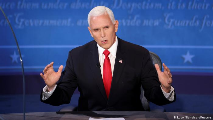 USA I TV-Duell zwischen den US-Vize-Kandidaten Kamala Harris und Mike Pence (Lucy Nicholson/Reuters)