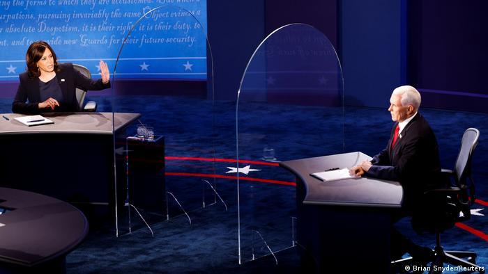 USA I TV-Duell zwischen den US-Vize-Kandidaten Kamala Harris und Mike Pence (Brian Snyder/Reuters)