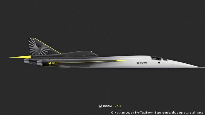 The XB-1 is a 1:3 scale prototype of Boom's supersonic jet Overture and will take his first test flight in October