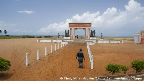 The Gate of No Return monument in Benin