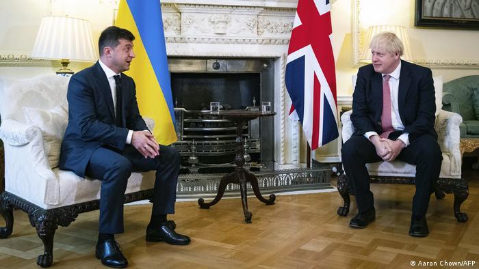 Володимир Зеленський та Борис Джонсон під час зустрічі у жовтні 2020 року