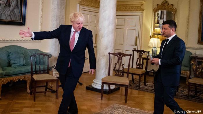 Ukraine Präsident Volodymyr Zelensky und Premierminister Boris Johnson