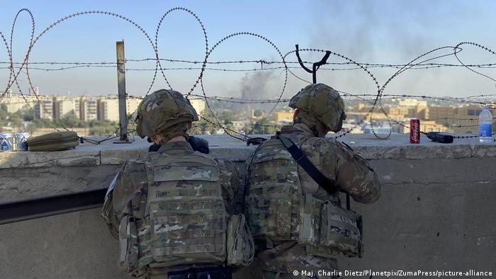 Soldados estadounidenses de la divisón 25 en Bagdad.