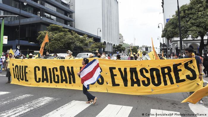 Costa Rica San José | Protest Steuern (Carlos González/AP Photo/picture-alliance)