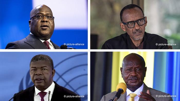 Museveni, Kagame, Tshisekedi and Lourenco