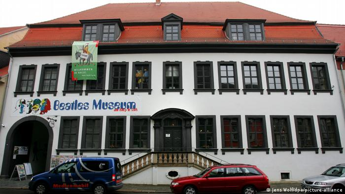 Здание музея в центре Халле