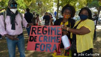 Proteste in Lissabon gegen den Präsidenten von Guinea-Bissau Umaro Sissoco Embaló