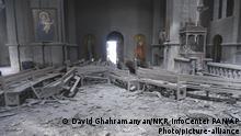 Berg-Karabach Schuscha   Zerstörung in der Ghasantschezoz-Kathedrale