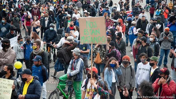 Manifestación en Colombia contra el gobierno de Iván Duque por la muerte a manos de la policía de Javier Ordóñez. (21.09.2020).