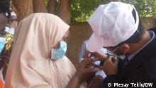 Polio-Impfung in Äthopien Titel: Polio Impfung in Äthopien, Ethiopia, Äthiopien, 08.10. 2020 Author/ Foto by Mesay Teklu (DW Amharic correspondent) Schlagwörter: Impfüng , Tigray, Ethiopia, Äthiopien, 08.10. 2020 Zulieferung durch Mantegaftot Sileshi Siyoum