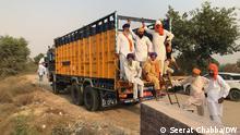 Indien Protest von Landwirten