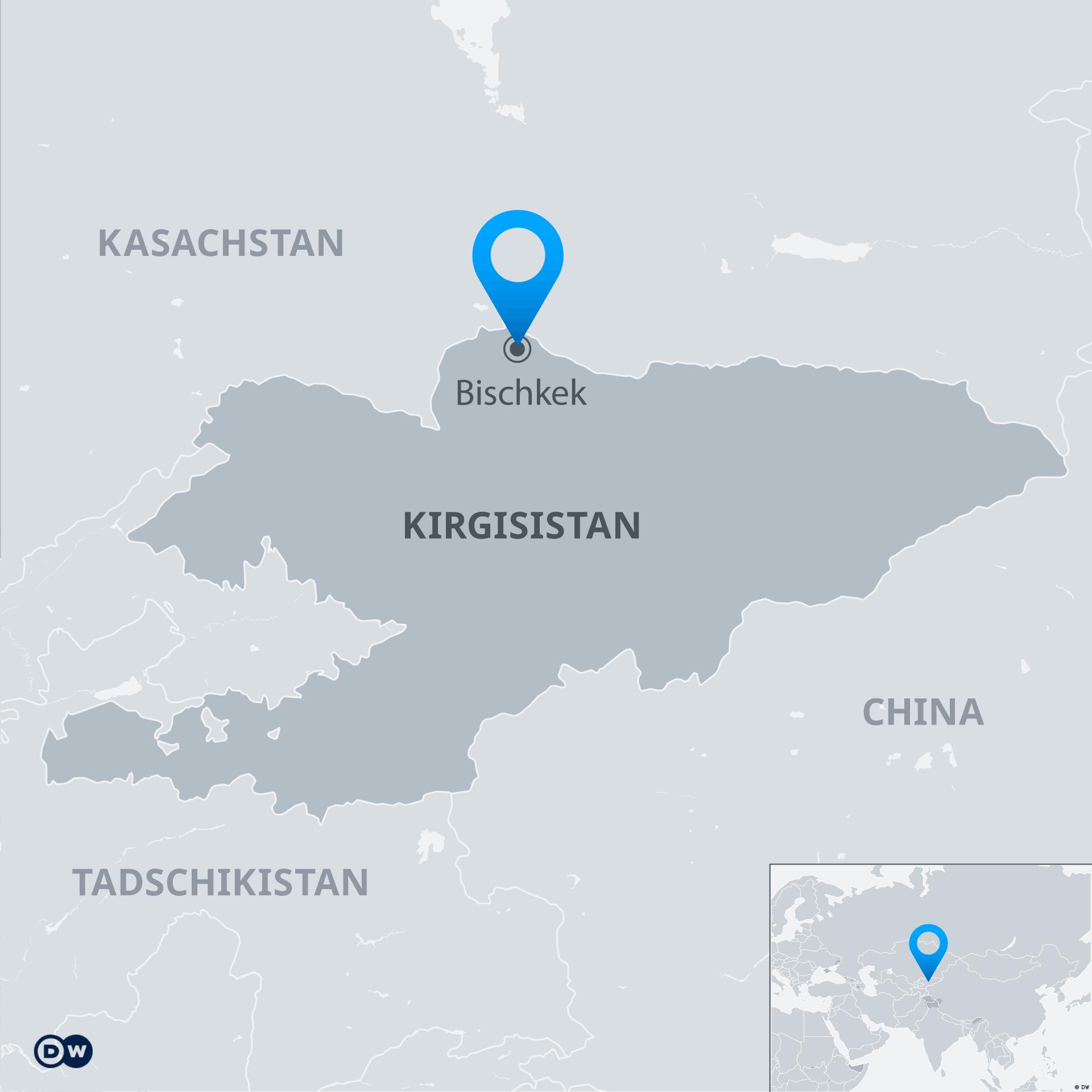 Infografik Karte Bischkek Kirgisistan DE