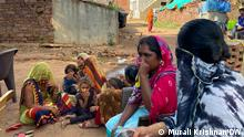 Women and young girls in Navali village in Madhya Pradesh state