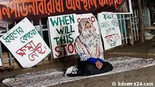 Bangladesch Hungerstreik gegen Vergewaltigungsfall