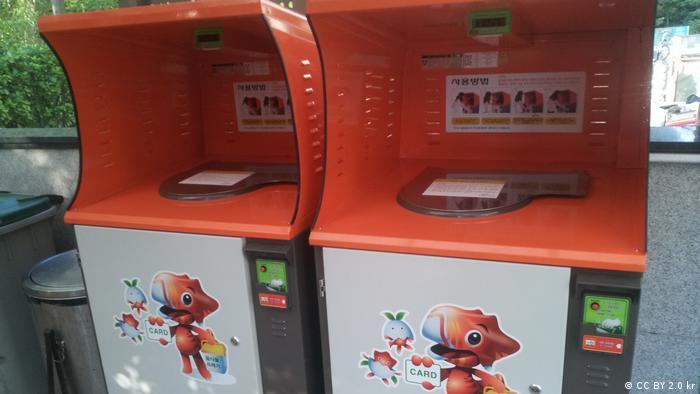 Contenedores de basura en Seúl