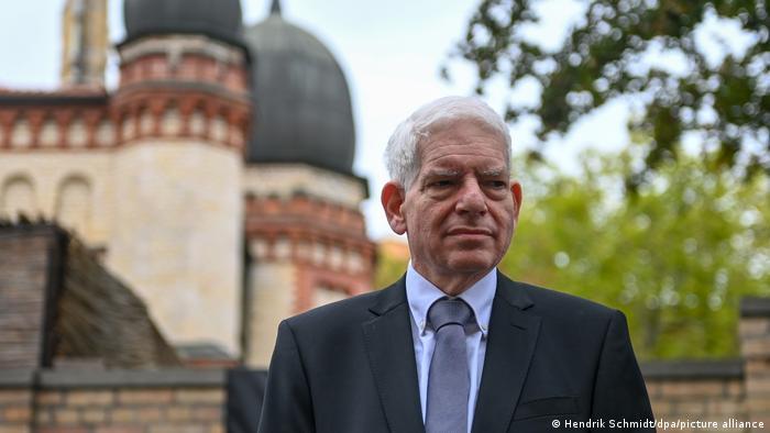 Josef Schuster, der Präsident des Zentralrats der Juden, in Halle (Foto: Hendrik Schmidt/dpa/picture alliance)
