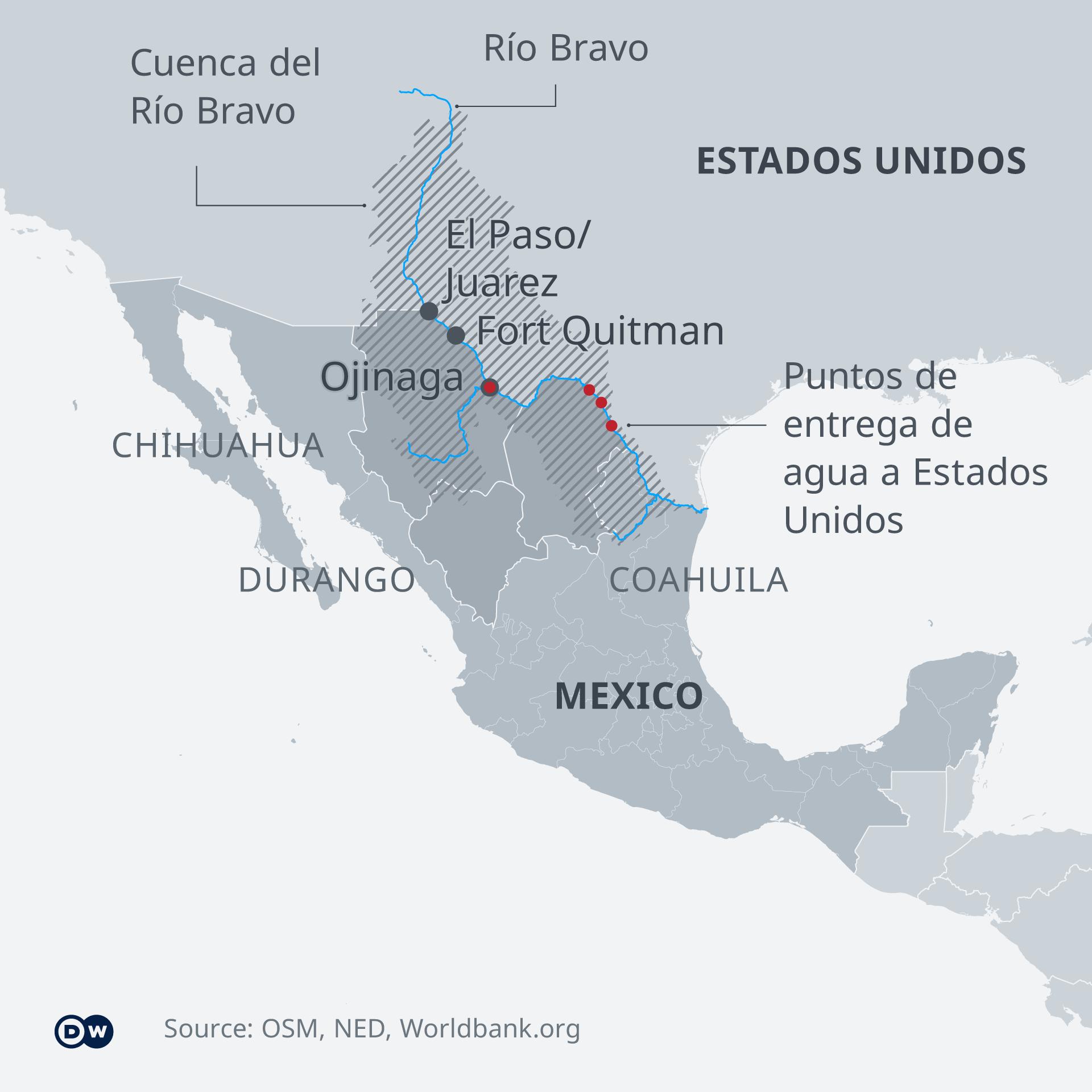 Karte - Wasserkonflikt Rio Grande - ES