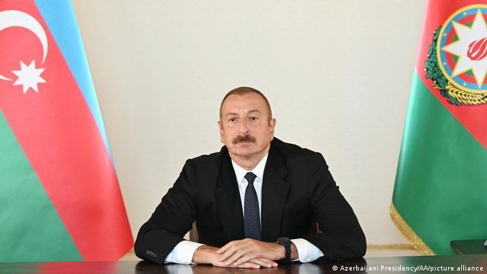 Präsident Aserbaidschan Ilham Alijew TV-Rede