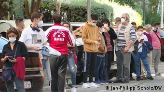 Ουρές για το τεστ κορωνοϊού στη Μαδρίτη