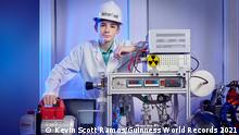 Jackson Oswalt - Youngest Person To Achieve Nuclear Fusion Guinness World Records 2021 Photo Credit: Kevin Scott Ramos/Guinness World Records