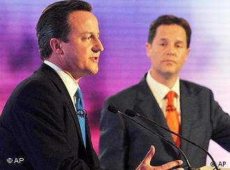 David Cameron y Nick Clegg: encuentro privado.
