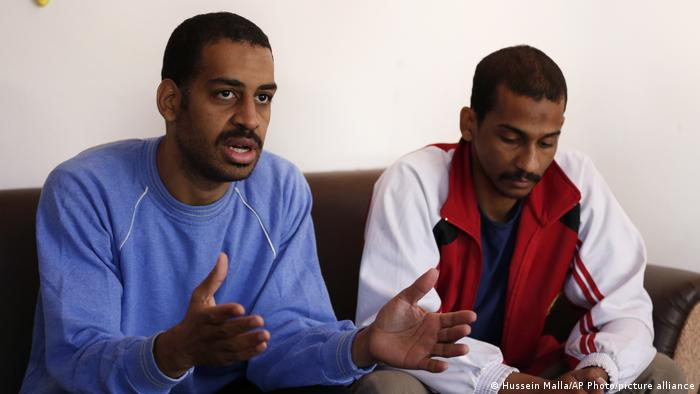 Two IS 'Beatles' Kotey(l) and Elsheikh (r) speak while in custody in Syria