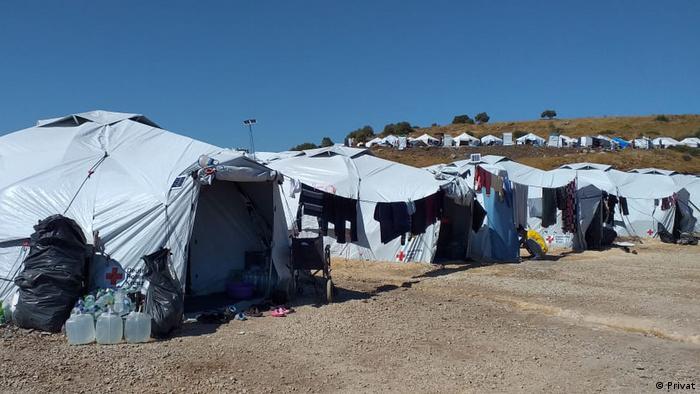Tents at the Kara Tepe camp Photo: Ahmad Shuaib Abawi