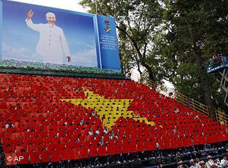 Portret Ho Ši Mina na proslavi godišnjice