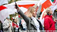 Litauen   Demonstration in Vilnius   Solidarität mit Belarus