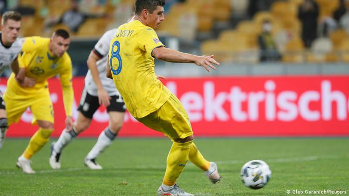Ukraine's late penalty threatened to upset Germany's day