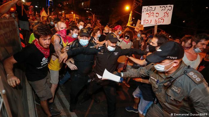 Israel Protest gegen Netanjahu in Tel Aviv (Emmanuel Dunand/AFP)