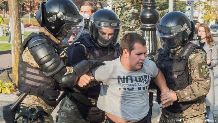 Задержание участников акции протеста в Хабаровске, 10 октября