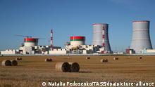 Belarus Astrawez Weißrussisches Kernkraftwerk