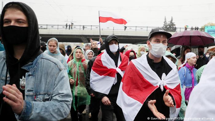 Protesters gather in Minsk