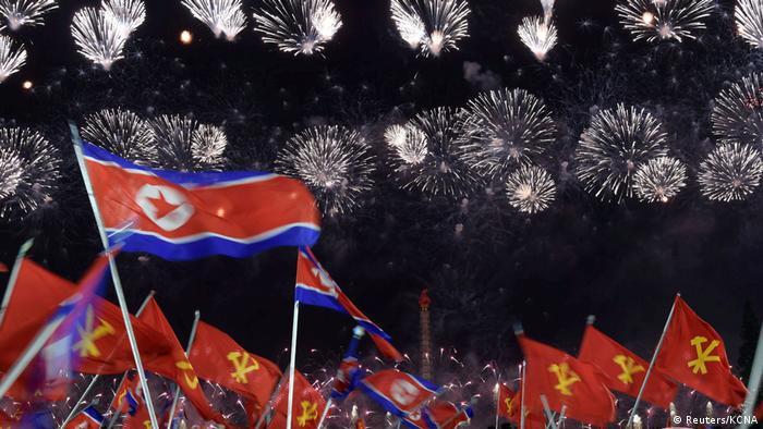 Nordkorea | Feierlichkeiten 75 Jahre Arbeiterpartei WPK (Reuters/KCNA)