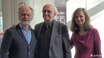Η Μ. Πρίντσιγκερ μαζί με τον Π. Μάρκαρη και τον ιταλό μεταφραστή Α. ντι Γκριγκόριο