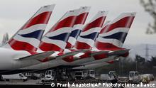 Großbritannien l Flugzeuge der British Airways, Heathrow London