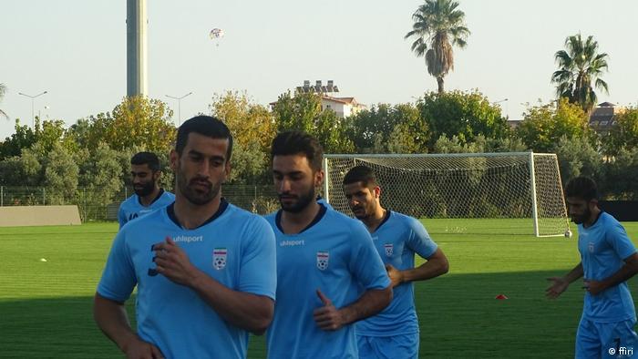 تمرین تیم ملی ایران در آنتالیا