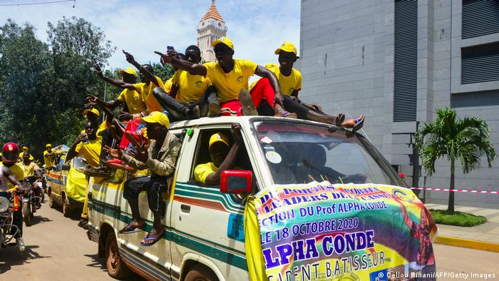 Guinean supporters of President Alpha Conde (Cellou Binani/AFP/Getty Images)