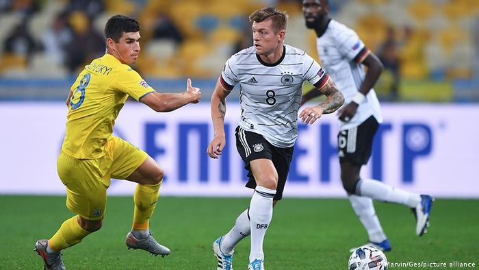 Alemanha ganhou de 2 a 1 da Ucrânia na Liga das Nações