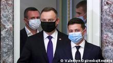 Ukraine Kiew |Wolodymyr Selenskyj trifft Andrzej Duda
