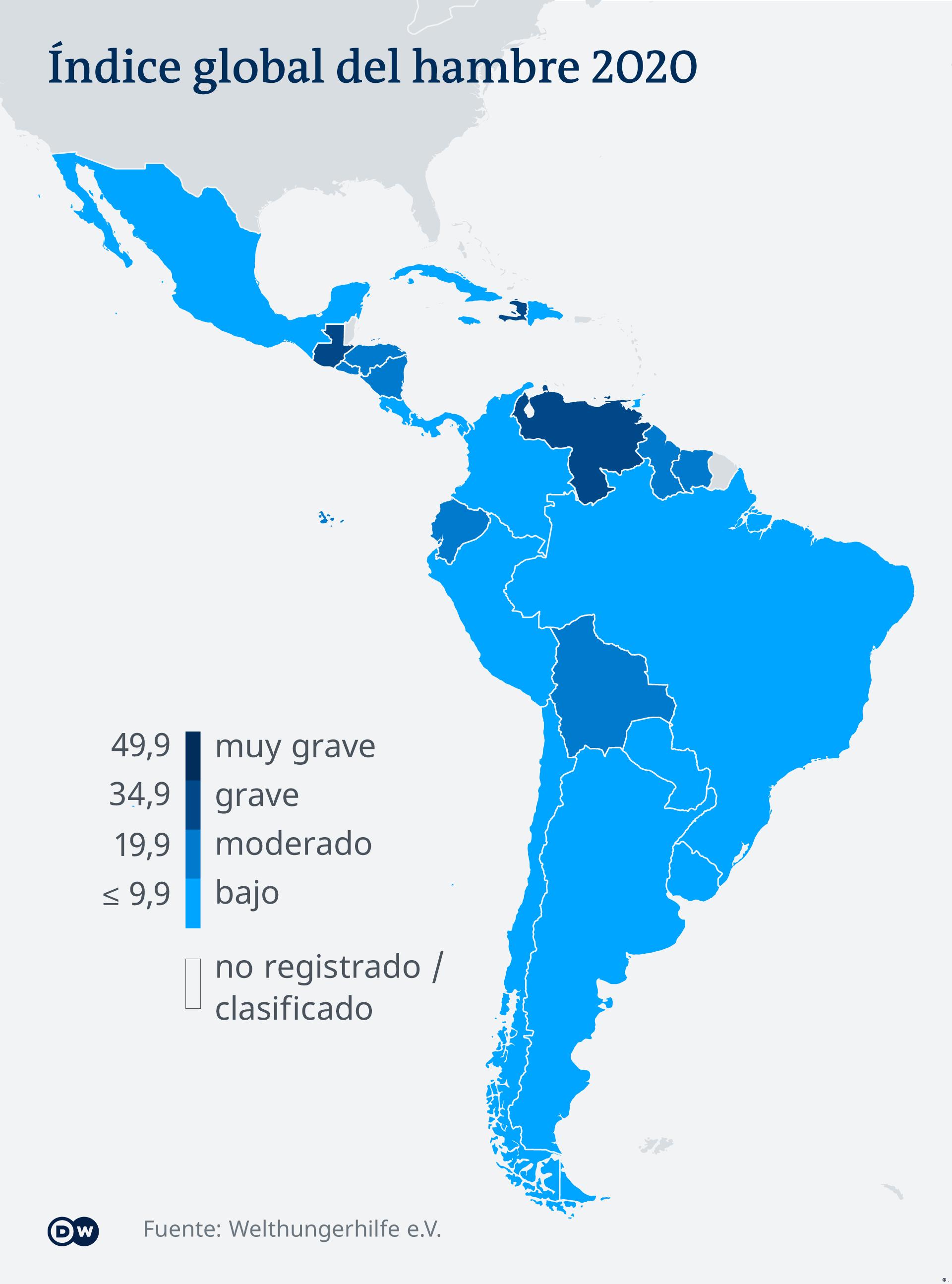 Infografik Karte Welthungerindex Lateinamerika ES (.)