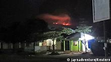 A view of the fire's glow on Mount Kilimanjaro seen from Moshi, Tanzania October 11, 2020 in this image taken from social media. Instagram @jaysadventure_kilimanjaro via REUTERS THIS IMAGE HAS BEEN SUPPLIED BY A THIRD PARTY. NO RESALES. NO ARCHIVES. MANDATORY CREDIT