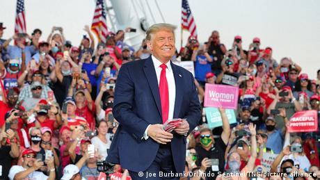 US-Wahlkampf Präsident Trump in Sanford Florida (Joe Burbank/Orlando Sentinel/TNS/picture alliance)