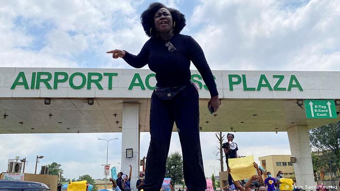 Nigeria Lagos   Protest gegen Polizeigewalt