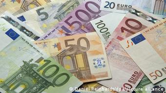 Евро. Банкноты различного номинала