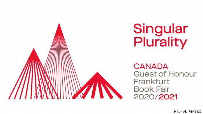 Logo des Ehrengasts Kanada zeigt drei verschieden hohe Piktogramme von Bergen (Copyright: Canada FBM2020).