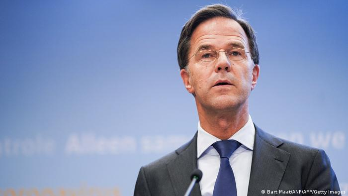 Dutch Prime Minister Mark Rutte announces new measures to tackle the spread of the coronavirus on October 13